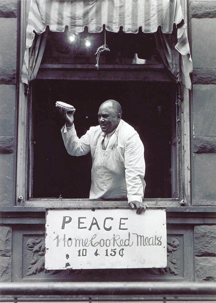 Cook at Father Divine Mission, Harlem, c. 1935 ©Aaron Siskind
