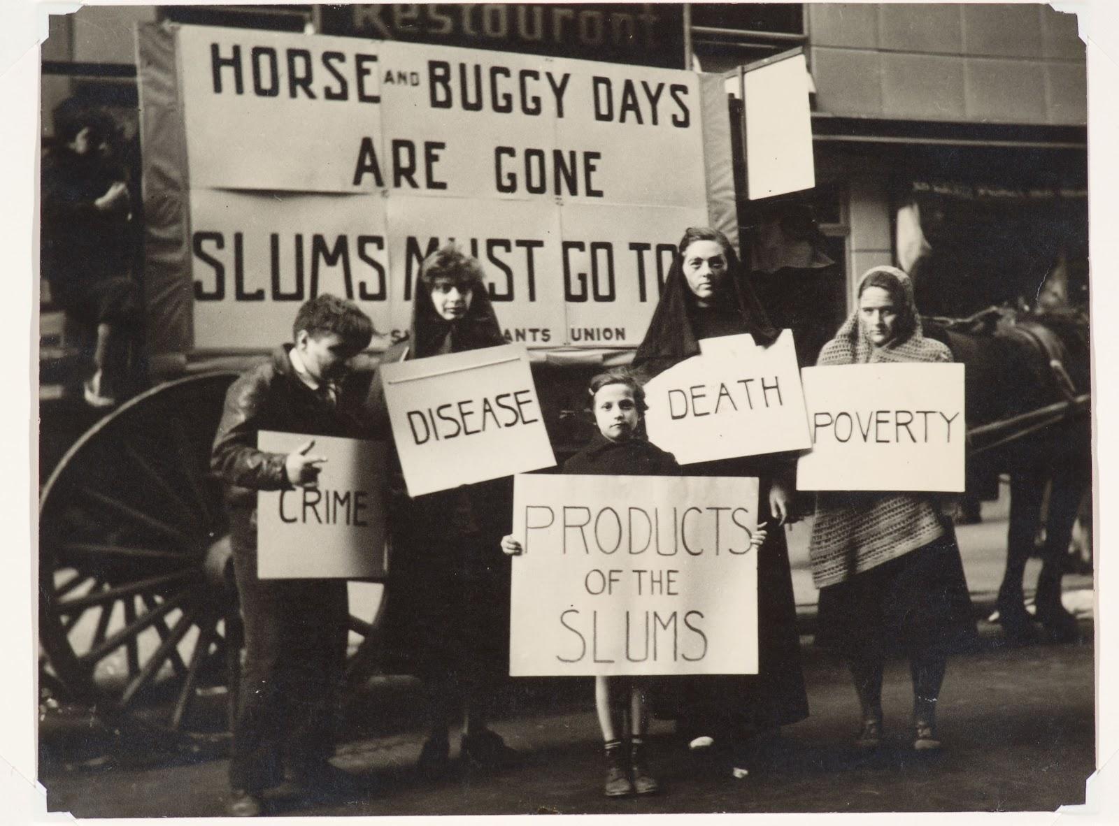 Slums Must Go! May Day Parade, New York, c. 1936 ©Joe Schwartz