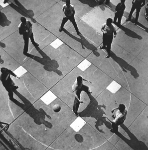 """Dodge Ball, 1950"" ©Arthur Leipzig"