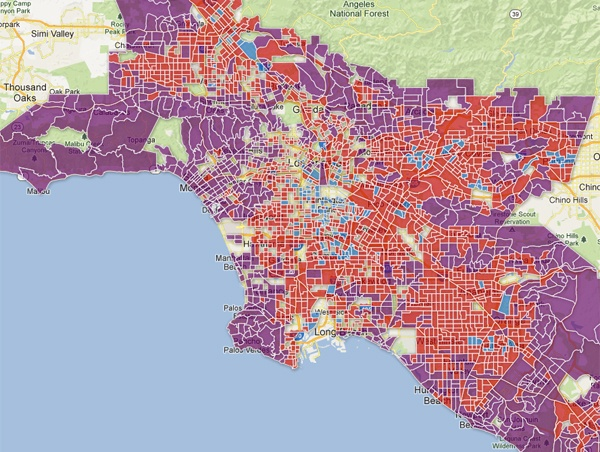 Dangerous neighborhoods in los angeles map for Best neighborhoods in los angeles for singles