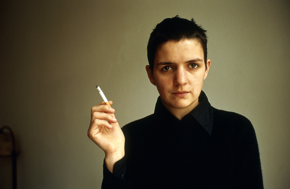 Siobhan with a cigarette