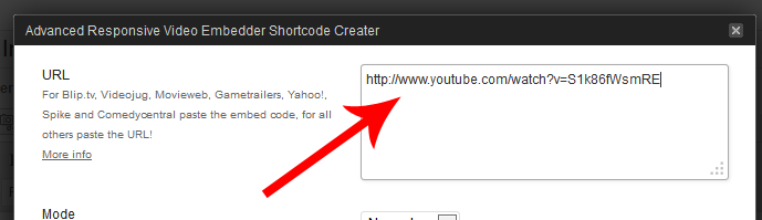 You can do this with video URLs from any of the supported video sites
